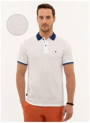 Pierre Cardin Pierre Cardin Beyaz Erkek Polo Yaka T-Shirt Beyaz